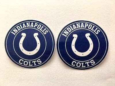 $4.55 • Buy 2x Indianapolis Colts Car Bumper Wall Laptop Vinyl Die Cut Stickers Decals