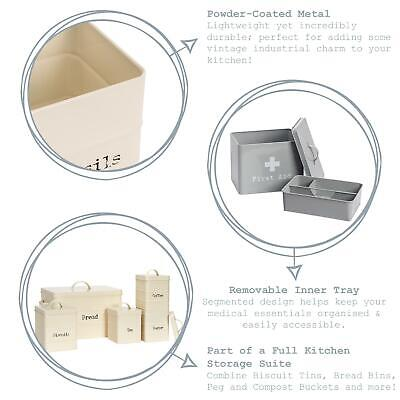£16.49 • Buy First Aid Box Empty Emergency Medical Survival Kit Storage Case 2 Tier Grey