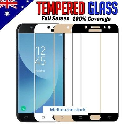 AU5.94 • Buy Full Coverage Tempered Glass Screen Protector For Samsung Galaxy J5 J7 Pro 2017