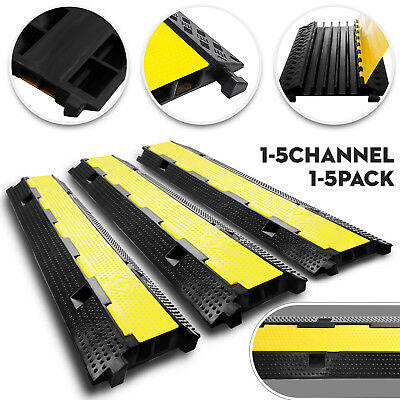 £51.97 • Buy 1/2/5 Channel Cable Protector Ramp Rubber Warehouse Vehicle Wire Covers Snake