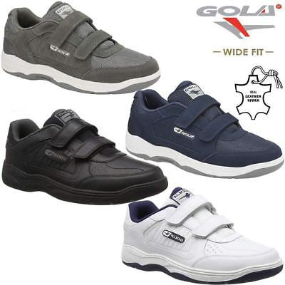 £32.95 • Buy Mens Gola Casual Leather Wide Fit Walking Running Gym Trainers Driving Shoes Siz
