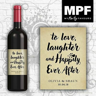 £2.95 • Buy Personalised Wedding/Engagement Wine Bottle Label - Perfect For Table Settings