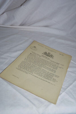 LAND DRAINAGE SUPPLEMENTAL ACT (of Parliament) 1884 DONINGTON, Lincoln  • 8.50£