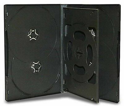 AU33.74 • Buy 25 X Hold 6 14mm Standard Case Hex DVD Cover Disc Holds 6 Discs Outer Wrap BLACK