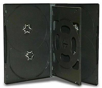 AU22.54 • Buy 10 X Hold 6 14mm Standard Case Hex DVD Cover Disc Holds 6 Discs Outer Wrap BLACK