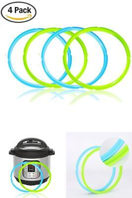$12.49 • Buy Silicone Sealing Rings For Instant Pot Accessories 5 / 6 Quart Seal Lasting 4pcs