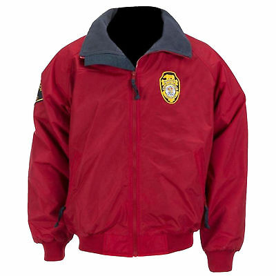 Baywatch Beach Costume Style Red Cotton Bomber Jacket For Men • 65£