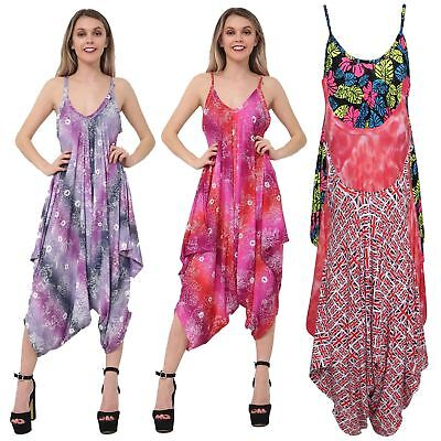 £11.99 • Buy Ladies Baggy Sleeveless All In One Cami Romper Playsuit Harem Style Jumpsuit