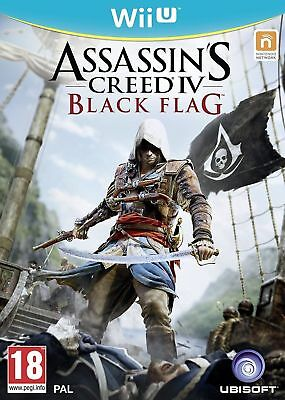 Wii U ASSASSINS CREED IV BLACK FLAG FOR THE NINTENDO WII U - MINT - FAST DELIVER • 14.99£