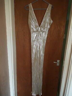 £34.99 • Buy Beautiful Maxi Dress Beyonce Inspired Gown Gold/silver Xmas Christmas Party
