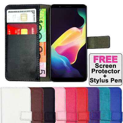 AU6.39 • Buy Leather Flip Case Wallet Stand Gel Cover For Oppo A57 A73 F5 R11S & Plus