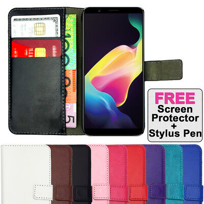 AU6.40 • Buy Leather Flip Wallet Case Cover + Tempered Glass For Oppo A57 A73 F5 R11S Plus