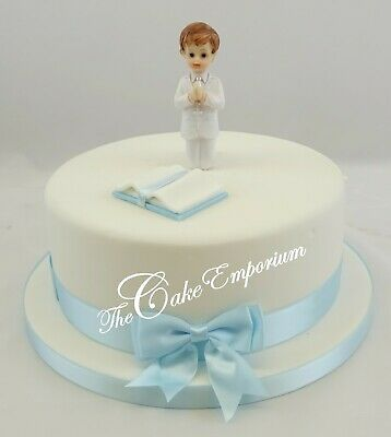 First Holy Communion Small Girl Or Boy Chalice, Bible, Cake Toppers Ribbon Sets  • 14.99£