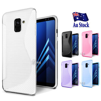 AU4.99 • Buy S Curve Soft Gel TPU Protective Case Cover For Samsung Galaxy A8 J8 2018