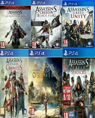 PS4 Assassins Creed PS4 All Titles Same Day Dispatch Via Super Fast Delivery • 17.99£