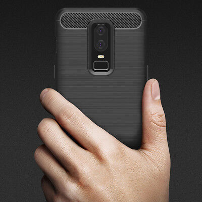 AU5.49 • Buy Shockproof Heavy Duty Anti Carbon Fiber Case Cover For OnePlus 3 | 3T | 5T | 6