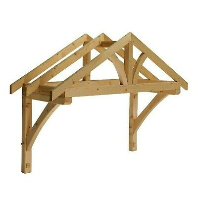 £165 • Buy Apex Front Door Porch Canopy Finest Quality Timber 1200mm Inc Gallows Brackets