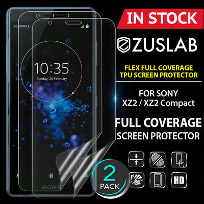 AU7.99 • Buy 2 X For SONY XZ2 XZ2 Compact ZUSLAB Flex Full Coverage Soft TPU Screen Protector