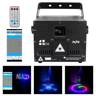 AU407.38 • Buy APP Program RGB Animation Laser Projector 1W DMX ILDA DJ Party Club Stage Lights