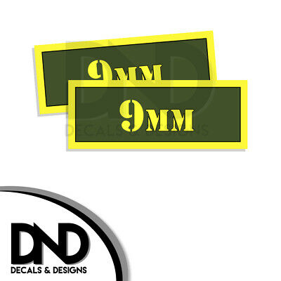 AU3.07 • Buy 9MM Ammo Can Decal Gun Ammunition Box Firearm Gloss Sticker AG - 2 Pack