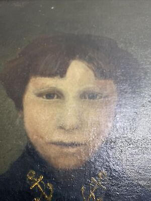 $14000 • Buy Extremely Old Haunted Oil Painting Portrait - Antique From France Military?