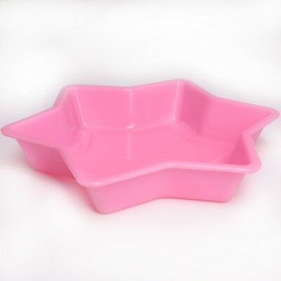 LARGE STAR JELLY MOULD Flexible Silicone Gelatin Gummy Sweet Mould Giant Tin Pan • 5.11£