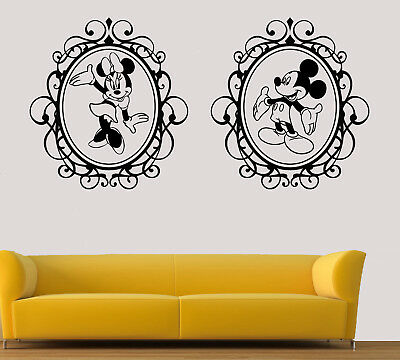 Disney Wall Art Stickers Minnie And Mickey Mouse Vinyl Decals Single/Twin Pack • 22.11£