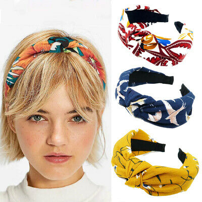 $0.99 • Buy Knot Plastic Hairbands Headbands For Women Girls Fabric Floral Hair Accessories