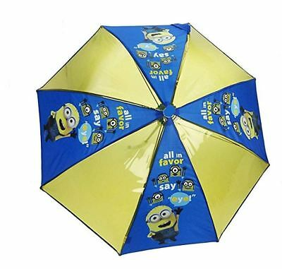 Kids Boys Girls Minion Despicable Me Transparent Yellow Character Umbrella  • 5.99£