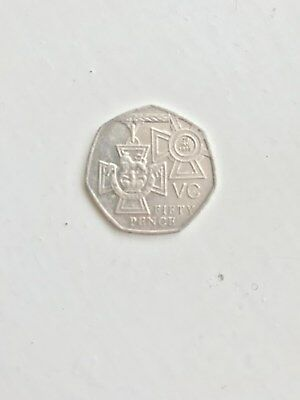 A Rare 50p Coin 2006 Victoria Cross For Valour 29th January 1856 Vc 50 Pence • 40£