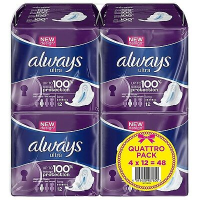£9.99 • Buy Always Ultra Long Sanitary Towels Pads With Wings Pack Of 48, 96 Or 144