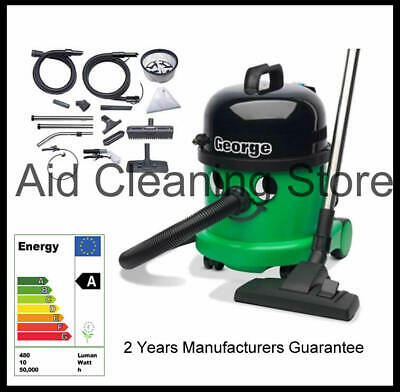 Numatic George GVE370 2 Vacuum Carpet Cleaner Hoover Wet & Dry Green A26A Kit UK • 284.75£