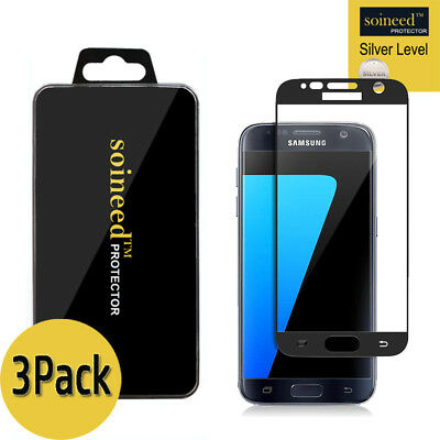 $ CDN9.72 • Buy [3-Pack] SOINEED Samsung Galaxy S7 FULL COVER Tempered Glass Screen Protector