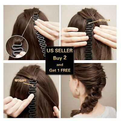 $2.99 • Buy Hair French Braid Clip Magic Styling Stick DIY Bun Maker Tool