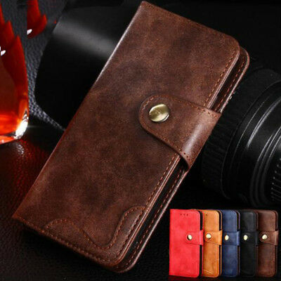 AU12.89 • Buy Luxury Retro Rivet Flip Cover Wallet Pu Leather Case For OPPO A3 F7 F5 K1 A7X F9
