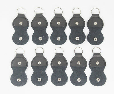 $ CDN12.05 • Buy Black 10pcs Leather Guitar Picks Genuine Bag Case Holder Organizer Keychain