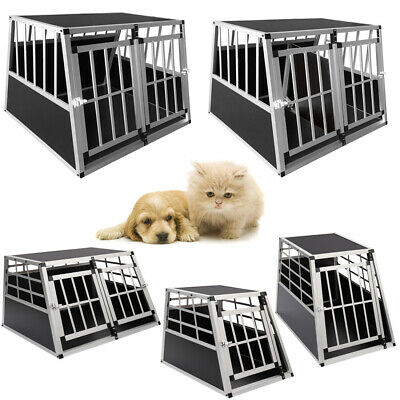 View Details Large Dog Crate Cage Car Transport Single Double Pet Carrier Partition Wall Safe • 73.95£