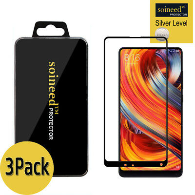 $8.49 • Buy [3-Pack] SOINEED Xiaomi Mi Mix 2/ 2S FULL COVER Tempered Glass Screen Protector
