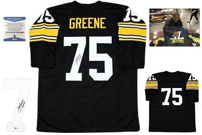 $ CDN201.75 • Buy Joe Greene Autographed SIGNED Jersey - Beckett Authentic - LS - Black