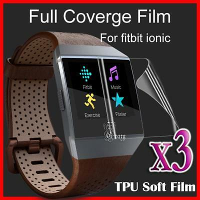 AU4.75 • Buy 3x Ultra Clear Full Cover Coverage Screen Protector Film Guard For Fitbit Ionic