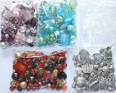 £3.29 • Buy Large Pack Of Mixed Beads For Jewellery Making - 150g - Glass Or Silver Tones