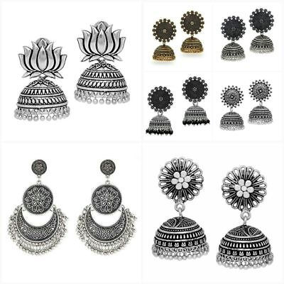 AU9.99 • Buy Bollywood Fashion Oxidized Silver Plated Handmade Jhumka Jhumki Earrings Jewelry