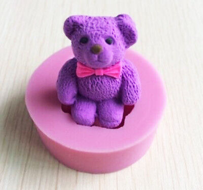 £3.59 • Buy 3D Teddy Bear Silicone Fondant Mould Cake Topper Sugarcraft Chocolate Icing Mold