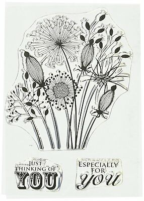 Woodware Clear Singles Stamp: Going To Seed [JGS300] By Jane Gill Flowers Garden • 5.46£