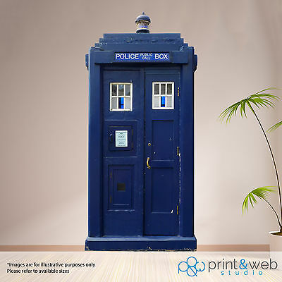 London Police Box Box Wall Sticker Decal Art Mural Bedroom Life Size Dr Who • 59.99£