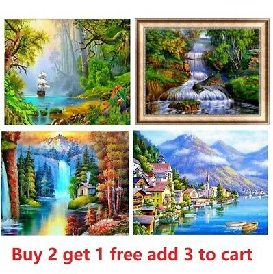 Full Drill 5D DIY Diamond Painting Landscape Embroidery Craft Kit Art Home Decor • 5.99£