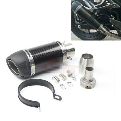 $73.64 • Buy 51mm Universal Motorcycle Exhaust Pipe Modified Muffler Gloss Carbon Fiber 250mm