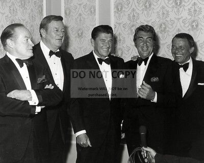 $7.54 • Buy Bob Hope John Wayne Ronald Reagan Dean Martin & Frank Sinatra 8x10 Photo (cc889)