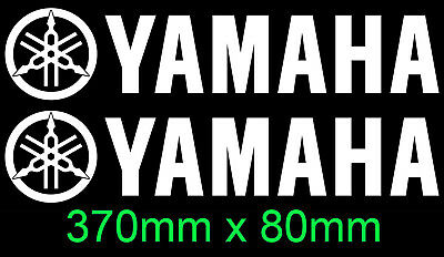 AU9.99 • Buy Yamaha Pair Vinyl Cut Sticker Decals For Outboards Engine Cowl Bike 370mm X 80mm