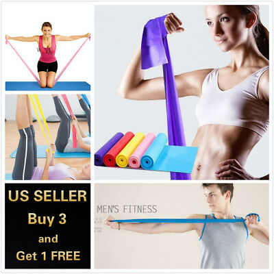 $ CDN5.55 • Buy 5 Feet Stretch Resistance Bands Exercise Pilates Yoga GYM Workout Physio Aerobic